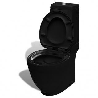 vidaXL KeramiK-Toilette Waagerechter Abgang Schwarz