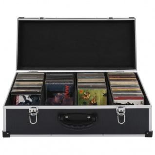 vidaXL CD-Koffer für 80 CDs Aluminium ABS Schwarz