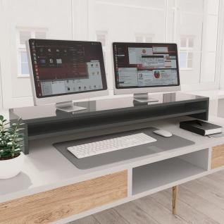 vidaXL Monitorständer Hochglanz-Grau 100×24×13 cm Spanplatte