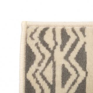 vidaXL Teppich Modern Zickzack-Design 140 x 200 cm Beige/Grau