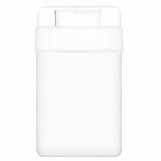 vidaXL 2-tlg. Bettwäsche-Set Baumwolle Weiß 155x200/60x70 cm