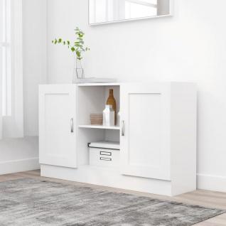 vidaXL Sideboard Weiß 120x30, 5x70 cm Spanplatte