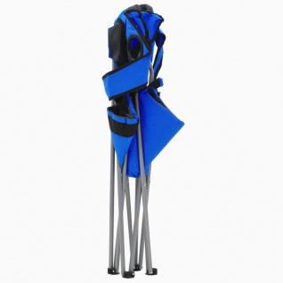 vidaXL Klappbare Campingstühle 2 Stück 96 x 60 x 102 cm Blau - Vorschau 4