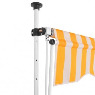 vidaXL Einziehbare Markise Handbetrieben 300 cm Gelb/Weiß Gestreift - Vorschau 2