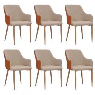 esszimmerst hle stoff grau online kaufen bei yatego. Black Bedroom Furniture Sets. Home Design Ideas