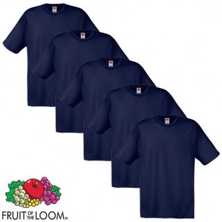 Fruit of the Loom Original T-Shirt 5 Stk 100% Baumwolle Navy XXL