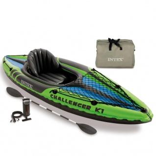 Intex Aufblasbares Kayak Challenger K1 274 x 76 x 33 cm 68305NP