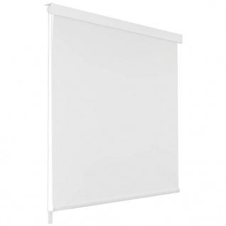 vidaXL Duschrollo 100 x 240 cm Weiß