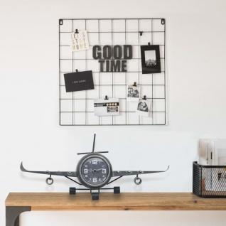 vidaXL Uhr im Flieger-Design Grau 41x8x17 cm Metall