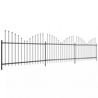 vidaXL Gartenzaun Speerspitzen Invertiert (0, 75-1) x 6 m Stahl Schwarz