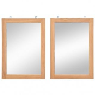vidaXL Wandspiegel 2 Stk. Teakholz Massiv 50x70 cm
