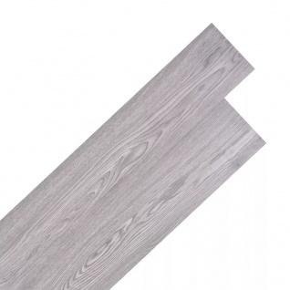 vidaXL PVC Laminat Dielen Selbstklebend 5, 02 m² Dunkelgrau
