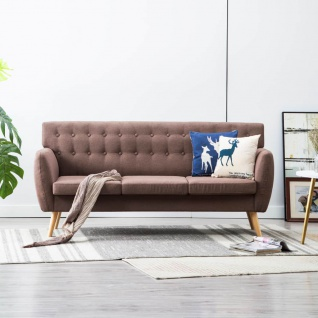 vidaXL 3-Sitzer-Sofa Stoffbezug 172x70x82 cm Braun
