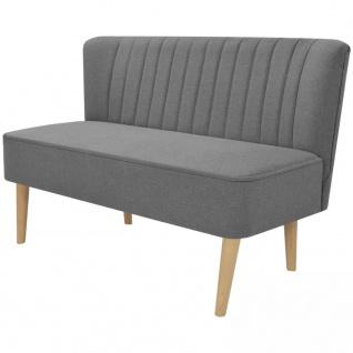vidaXL Sofa Stoff 117 x 55, 5 x 77 cm Hellgrau