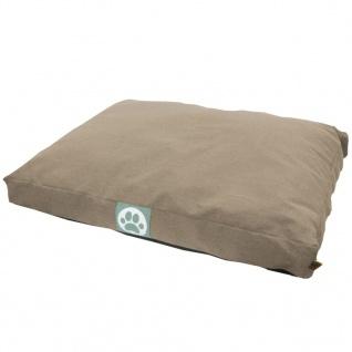 Overseas Hundebett Segeltuch 55x75x10 cm Sand