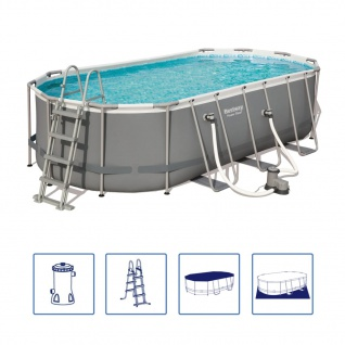 Bestway Power Steel Swimmingpool-Set Oval 549×274×122 cm 56710