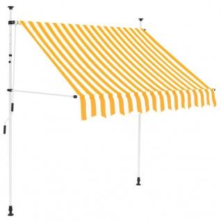 vidaXL Einziehbare Markise Handbetrieben 150 cm Gelb/Weiß Gestreift