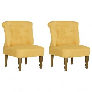 vidaXL Französische Stühle 2 Stk. Gelb Stoff - Vorschau 3