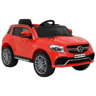 vidaXL Kinderauto Mercedes Benz GLE63S Kunststoff Rot