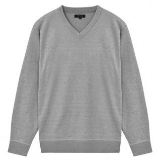 vidaXL Herren Pullover Sweater V-Ausschnitt Grau M