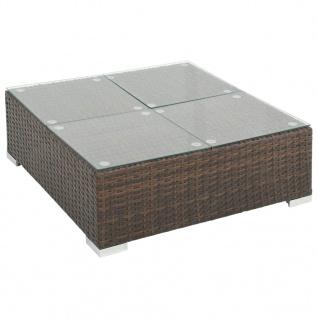 vidaXL 8-tlg. Garten-Lounge-Set mit Auflagen Poly Rattan Braun - Vorschau 5