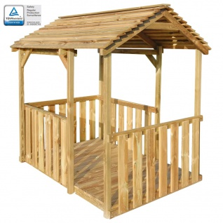 vidaXL Outdoor Pavillon Spielhaus 122, 5×160×163 cm Kiefernholz