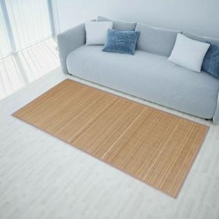 vidaXL Teppich Bambus 100 x 160 cm Braun