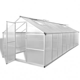 vidaXL Gewächshaus Aluminium 481 x 250 x 195 cm 23, 44 m³