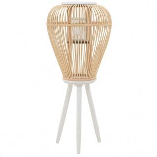 vidaXL Standkerzenhalter Bambus Natur