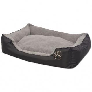vidaXL Hundebett mit gepolstertem Kissen Größe S Schwarz - Vorschau 2