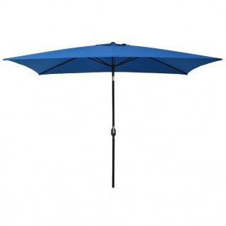 vidaXL Sonnenschirm mit Metall-Mast 300x200 cm Azurblau