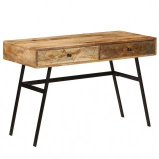 vidaXL Schreibtisch mit Schubladen Massivholz Mango 110×50×76 cm