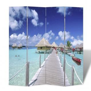 Foto-Paravent Paravent Raumteiler Strand 160 x 180 cm - Vorschau 1