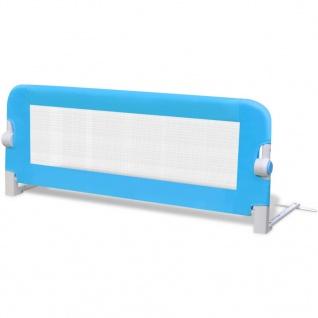 vidaXL Kleinkind Bettschutzgitter 2 Stück Blau 102 x 42 cm - Vorschau 3