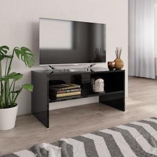 vidaXL TV-Schrank Hochglanz-Schwarz 80 x 40 x 40 cm Spanplatte