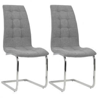 vidaXL Esszimmerstühle 2 Stk. Stoff 42, 5×61×104, 5 cm Hellgrau