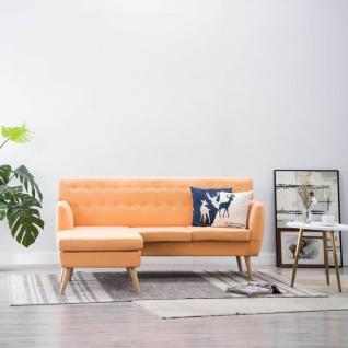 vidaXL Sofa in L-Form Stoffbezug 171, 5 x 138 x 81, 5 cm Orange