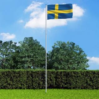 vidaXL Flagge Schwedens und Mast Aluminium 6 m