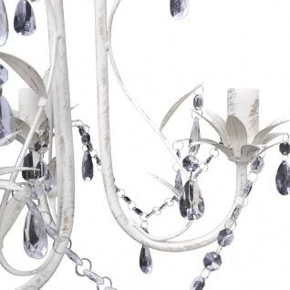Kronleuchter Pendelleuchte Kristall Lampe Lüster Leuchte weiß - Vorschau 4