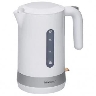 Clatronic Wasserkocher 1, 8 L Weiß WK 3452