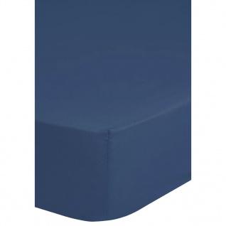 Emotion Spannbettlaken Jersey 90/100x200 cm Blau 0200.24.42