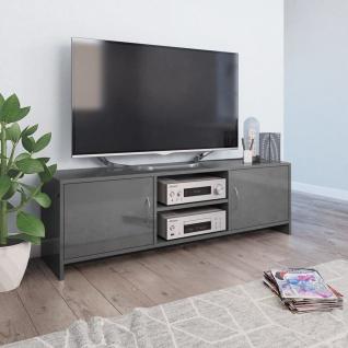 vidaXL TV-Schrank Hochglanz-Grau 120 x 30 x 37, 5 cm Spanplatte