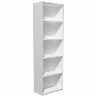 vidaXL Bücherregal Spanplatte 60x31x190 cm Weiß - Vorschau 2