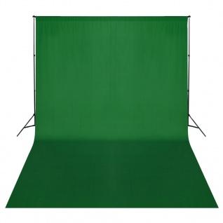 vidaXL Fotohintergrund-System 500 x 300 cm Grün