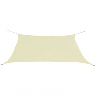 vidaXL Sonnensegel Oxford Gewebe Rechteckig 2 x 4 m Creme