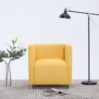 vidaXL Würfel-Sessel Gelb Stoff