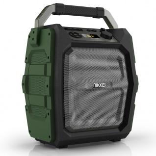 Nikkei Lautsprecher mit Mikrofon SPEAKERBOXX300 30 W Grau und Grün