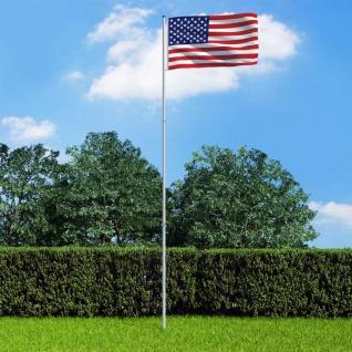 vidaXL Flagge der Vereinigten Staaten und Mast Aluminium 6 m