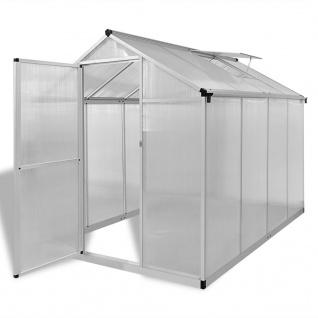 vidaXL Verstärktes Gewächshaus Aluminium 4, 6 m²
