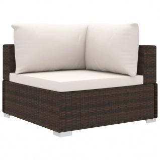 vidaXL 13-tlg. Garten-Lounge-Set mit Auflagen Poly Rattan Braun - Vorschau 5
